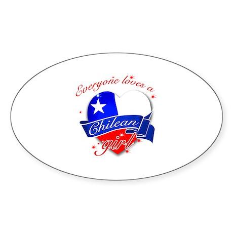 I heart Chilean Designs Sticker (Oval)