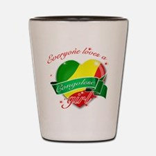 I heart Congolese Designs Shot Glass