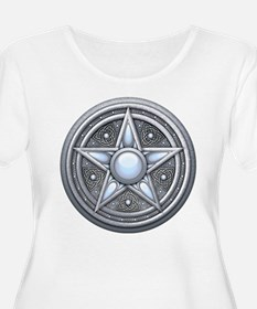 Silver Moonstone Pentacle T-Shirt