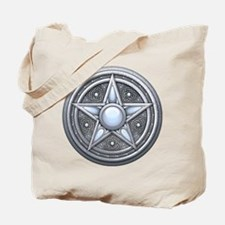 Silver Moonstone Pentacle Tote Bag