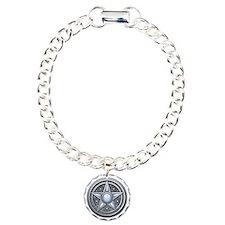Silver Moonstone Pentacle Bracelet