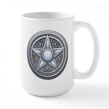 Silver Moonstone Pentacle Large Mug