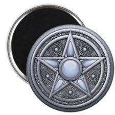 Silver Moonstone Pentacle Magnet