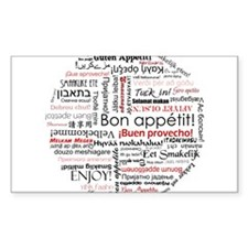 Bon appetit in different lang Decal