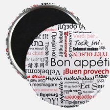 """Bon appetit in different lang 2.25"""" Magnet (10 pac"""