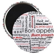 Bon appetit in different lang Magnet