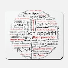 Bon appetit in different lang Mousepad