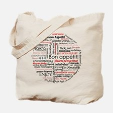 Bon appetit in different lang Tote Bag