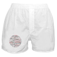Bon appetit in different lang Boxer Shorts