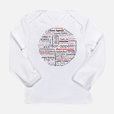 Bon appetit in different lang Long Sleeve Infant T