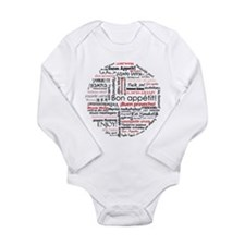 Bon appetit in different lang Long Sleeve Infant B