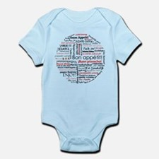 Bon appetit in different lang Infant Bodysuit