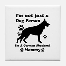 German Shepherd Mommy Tile Coaster
