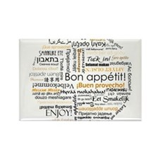 Bon Appetit in many languages Rectangle Magnet (10