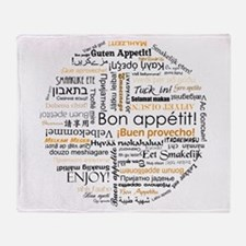 Bon Appetit in many languages Throw Blanket
