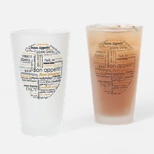 Bon Appetit in many languages Drinking Glass