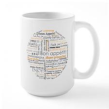 Bon Appetit in many languages Mug