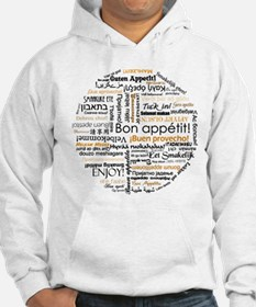 Bon Appetit in many languages Hoodie