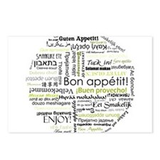 Bon appetit in other language Postcards (Package o