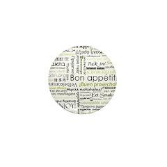 Bon appetit in other language Mini Button (100 pac