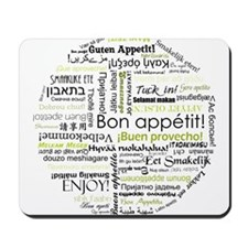 Bon appetit in other language Mousepad