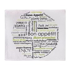 Bon appetit in other language Throw Blanket