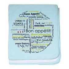 Bon appetit in other language baby blanket