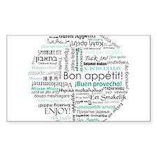 Bon appetit around the world Decal