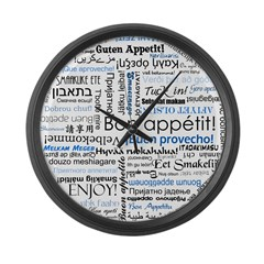 International Cuisine Lover - Large Wall Clock