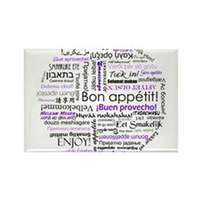 World Foods Dining Etiquette Rectangle Magnet (100
