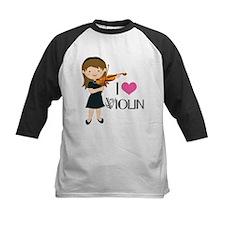 I Heart Violin Girls Tee