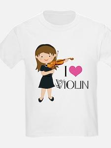 I Heart Violin Girls T-Shirt