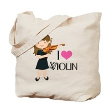 I Heart Violin Girls Tote Bag