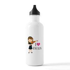 I Heart Violin Girls Water Bottle