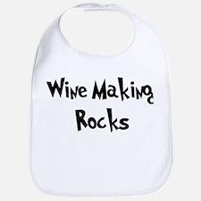 Wine Making Rocks Bib