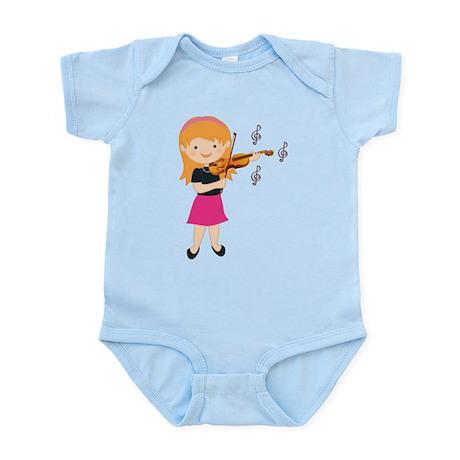 Violin Music Girl Infant Bodysuit