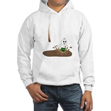 Cute Drip Guy Splashing in Pu Hoodie
