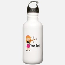 Personalized Violin Girl Water Bottle