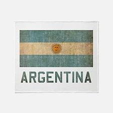 Vintage Argentina Throw Blanket