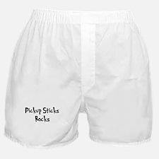 Pickup Sticks Rocks Boxer Shorts