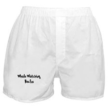 Whale Watching Rocks Boxer Shorts