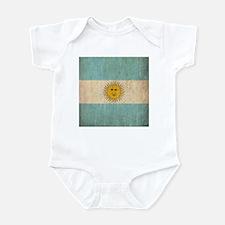 Vintage Argentina Flag Infant Bodysuit