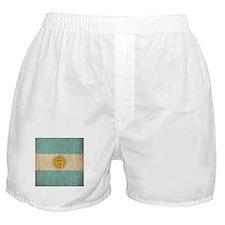 Vintage Argentina Flag Boxer Shorts