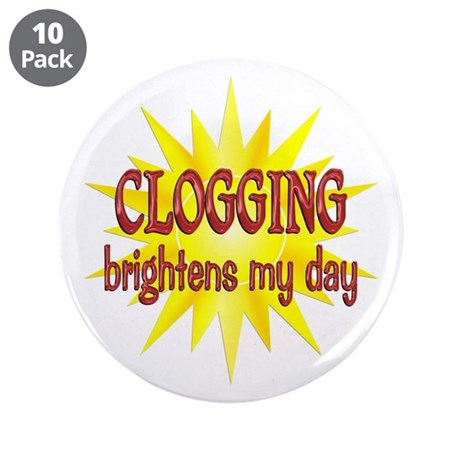 """Clogging Brightens 3.5"""" Button (10 pack)"""