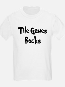 Tile Games Rocks Kids T-Shirt