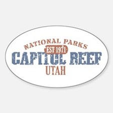 Capitol Reef National Park UT Sticker (Oval)