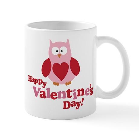 Happy Valentine's Day Owl Mug