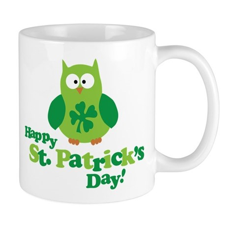 Happy St. Patrick's Day Owl Mug