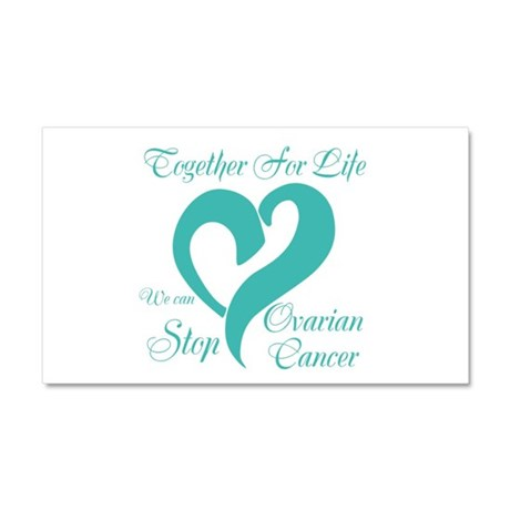 Stop Ovarian Cancer Car Magnet 20 x 12