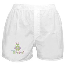 Happy Easter Owl Boxer Shorts